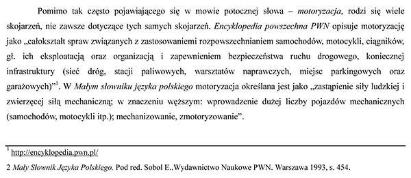 Zasady pisania pracy licencjackiej - Przykład użycia cytatu w tekście