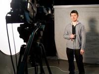 Zajęcia z dziennikarstwa telewizyjnego (studenci zaoczni) - fot. Michał Rogala, img_2395